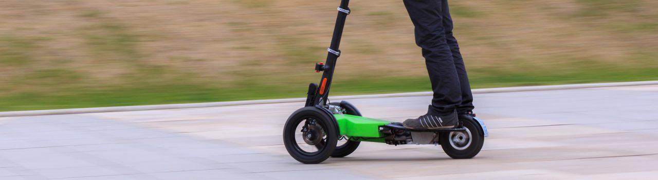 Patinete de 3 ruedas, triciclo eléctrico