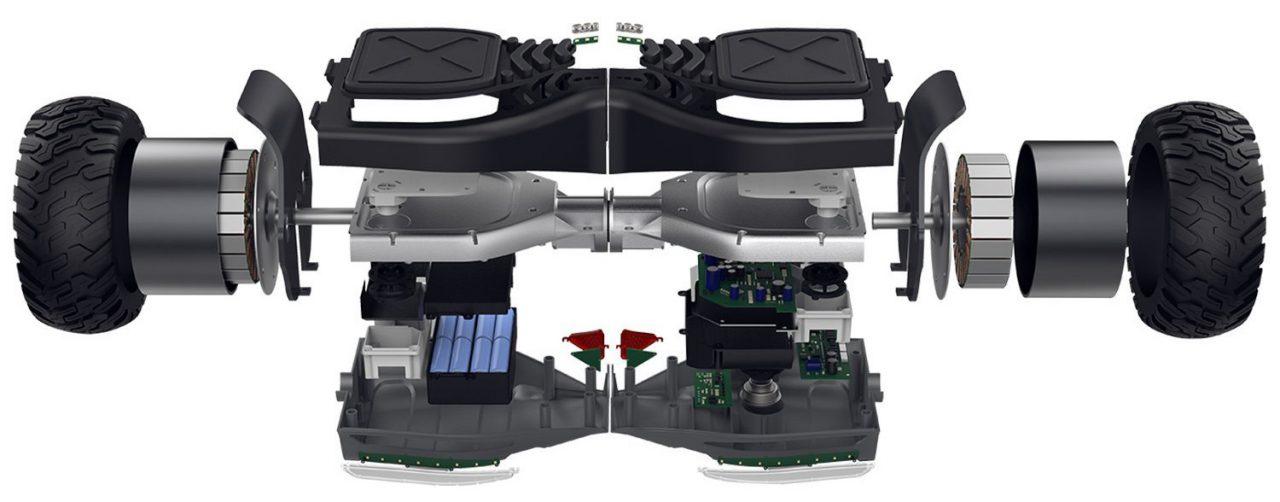 Componentes básicos de un hoverboard